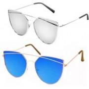 Eyevy Retro Square, Round, Cat-eye Sunglasses(For Boys & Girls)