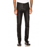 Naked & Famous Denim Stacked Guy 12oz Black Waxed Stretch in Black. - size 28 (also in 29,30,31,32,33,34)