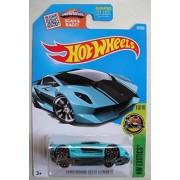Hot Wheels Hw Exotics 10/10 Teal Lamborghini Sesto Elemento 80/250 Showdown Scan & Race Card(2016)