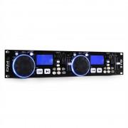 Ibiza IDJ2, Двоен DJ контролер, USB, SD, MP3, функция scratch (IDJ2)
