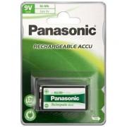 Wentronic 9V 170mAh NiMH 1-BL Panasonic Nichel-Metallo Idruro 170mAh 9V batteria ricaricabile