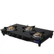 Sinora Hotline Creta Deluxe Glass top 3 burner Manual Ignition Gas Stove.