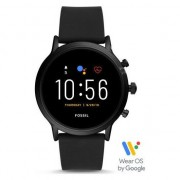 Ceas Smartwatch Fossil The Carlyle HR, Black/Black Silicone