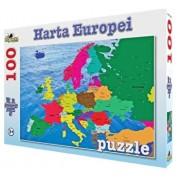 Puzzle Harta Europei, 100 piese