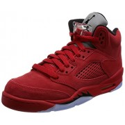 NIKE NIKE Jordan Kid's Air 5 Retro BG, UNIVERSITY RED/BLACK-UNIVERSITY RED, Youth Size 6