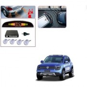 Auto Addict Car Silver Reverse Parking Sensor With LED Display For Volkswagen Tiguan