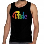 Bellatio Decorations Pride gay pride tanktop/mouwloos shirt zwart heren