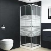 vidaXL Cabină de duș, 80x70x185 cm, sticlă securizată