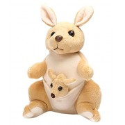 Jrp Mart Brown Kangaroo Mother and Baby Soft Toy 30 CM