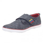 Shoe Mate Men's Grey Canvas Shoes