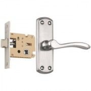 Spider Stainless Baby Latch Keyless Lock Complete Set With SS Finish (AZ11B + KBL) (Bathroom Lock)