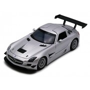 Mercedes-Benz SLS AMG GT-3, Silver - Showcasts 73356 - 1/24 Scale Diecast Model Toy Car