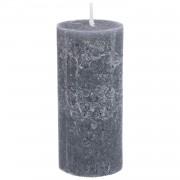 Dille&Kamille Bougie bloc, gris foncé, 7 x 15 cm