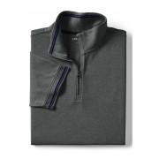 ランズエンド LANDS' END メンズ・ストレッチ・アクティブ・バイク・ポロ/無地/半袖/ポロシャツ(チャコールヘザー)