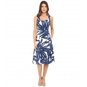 Donna Morgan Pique Knit Sleeveless Scoop Midi Dress EnamelInk