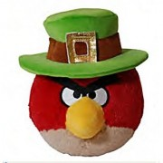 Red Bird: ~5 Angry Birds St. Patrick's Day Mini-Plush Series (No Sound)