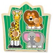 Melissa & Doug Jungle Friends (Safari) Jumbo Knob Puzzle