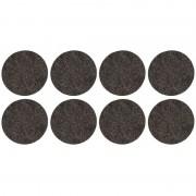 Cosy & Trendy 8x Zwarte ronde meubelviltjes/antislip noppen 2,6 cm
