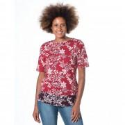 Denim & Co. T-shirt fantasia in cotone con scollo a barca
