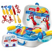 SHOPEE BRANDED Children Doctor Nurse Medical Equipment Pretend Play Set Educational Toy Kids Role Games Tools Accessories Portable Suitcase