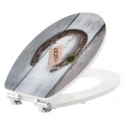 Capac WC form & style Lucky, usor detasabil, inchidere lenta, alb 47,6x36,5 cm
