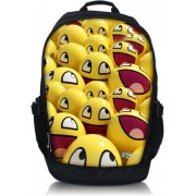 Laptop rugzak 17.3 inch gele smileys - Sleevy
