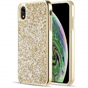 Funda Case Iphone Xs Max Protector Brillos Diamante - Dorado