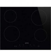 Smeg 60cm Black Glass with Straight Edge Ceramic Hob KIV90XE