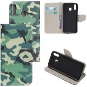 Camouflage agenda wallet case hoesje Samsung Galaxy A40