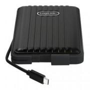 Logilink Box Esterno 2,5'' SATA USB3.1 Gen 2 USB-C™ Impermeabile Nero