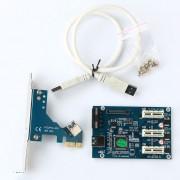 Card de expansiune PCI-E 1x 3-Port USB 3.0