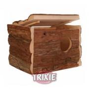 Hnízdící budka z přírodního dřeva pro andulky 21x13x12 cm