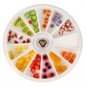Ruedas de Piedras Decorativas 19 - Fimo de Frutas