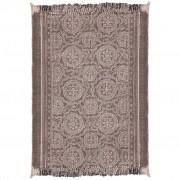 vidaXL Памучен килим, 180x270 cм, тъмно оцветяване
