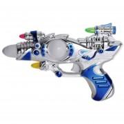 ER Espacio Pistola De Juguete Musical Gracioso Chapeados Alimentado Por La Batería De Juguete Juguetes De Niños - Multicolor