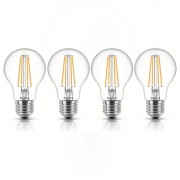Philips Pack 4 Lâmpadas LED 7W E27 Branco Neutro