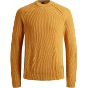 Jack&Jones Pulover pentru bărbați JORPANNEL KNIT CREW NECK Sunflower XL