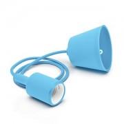 Függő lámpatest E27 kék, 1m