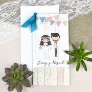 Invitatie nunta cu elemente de petrecere cod 39631
