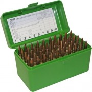 MTM Ammo Box 50 RD Rifle Flip-top (Green)