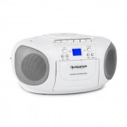 Auna BoomBerry Boom Box Ghettoblaster Radio reproductor CD/MP3 casete blanco (CS15-BoomBerry WH)