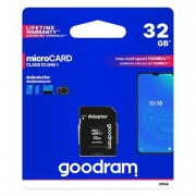 Goodram Microcard 32 GB micro SD HC UHS-I class 10 карта памет. SD преходник (M1AA-0320R12)