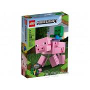 LEGO® Minecraft 21157 Porc BigFig cu Bebeluș de zombi