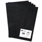 dpCraft Filc polyesterový - čierny A4, (DPFC-025)