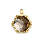 Mi Moneda PEN-MENOR-02-XS Pendant Xs Menorca 925 Silver Gold Plated With Xs Moneda Munthouder Maat XS