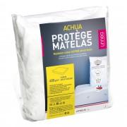 Linnea Protège matelas 130x200 cm ACHUA Molleton 100% coton 400 g/m2 bonnet 40cm