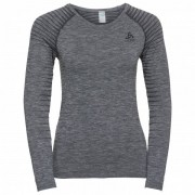 Odlo Women`s SUW Top Crew Neck L/S Performance Light Intimo sintetico (XS, grigio)