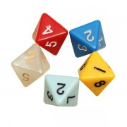 5PCS/set Number Eight-sided Dice Board Game Dice Counter