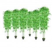 vidaXL Bamboo Artificial Plants Home Decor Set of 6