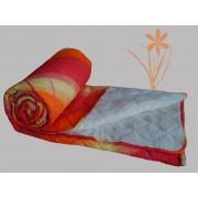 Prekrivač krep-veštačko krzno žuta, narandžasta, crvena - Stefan